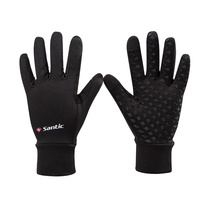 Santic 2019 Winter Cycling Gloves Gel Padded Thermal Full Finger Bike Bicycle Gloves Touch Screen Windproof Men's Gloves