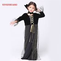 VEVEFHUANG Girls Children Wear Cartoon Witch Cosplay Dress Role Playing Dance Halloween Costume For Kids Girls