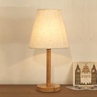 Novel wooden Table Lamp 420mm Modern Industrial lamp wood&cloth table lamp desk lighting Bedside lamp ZZD0004