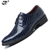 Size Fashion PU Leather Men Dress Shoes Pointed Toe Bullock Oxfords Shoes For Men, Lace Up Designer Luxury Men Shoes