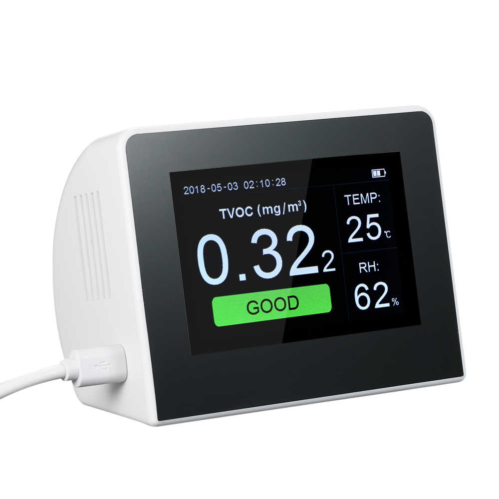 CO2 Meter,KKmoon 4.3 Inch Digital LCD Display Multifunctional Professional CO2 Detector Thermometer and Hygrometer Air Quality Analyzer Monitor