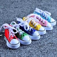 Парусиновая обувь ключ повседневная обувь с пряжкой брелок Цвет обуви брелоков из металла аксессуары для сумки