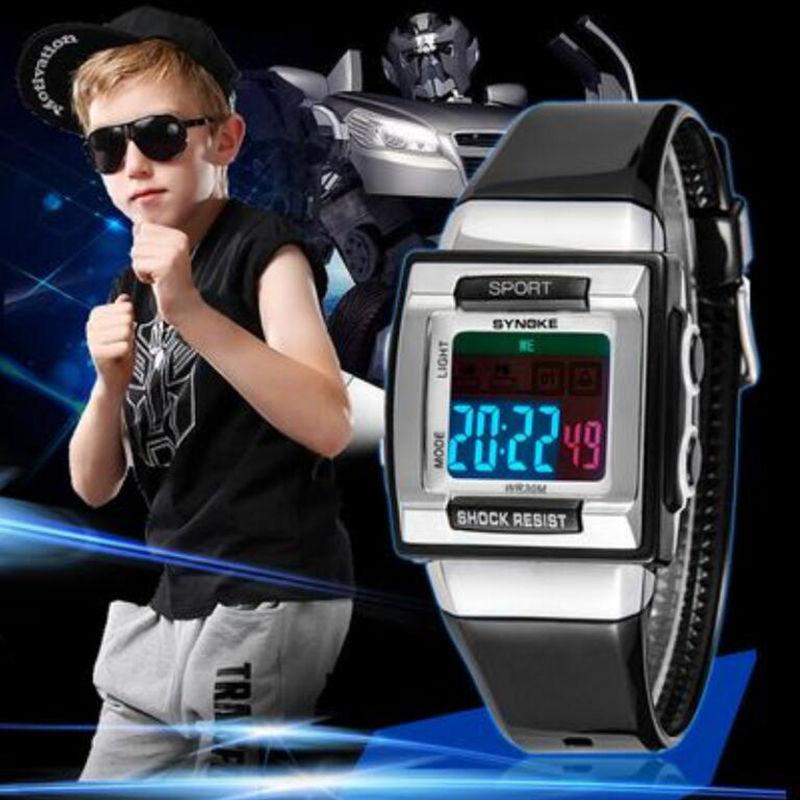 Digital Watch Electronic-Wristwatches Kid Clock Girls Waterproof Boys Children's Reloj