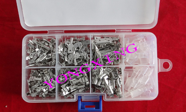 300pcs/lot 2.8;4.8;6.3 terminal male and female and sleeves wire cable connector 1pcs lot md6f line md6 female mouse and keyboard to 4p terminal line 50cm