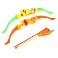 Plastic Bow and LED Arrow Sets Kids Outdoor Play Fun Toys Projector Bow Toy for Children Great Birthday Gifts