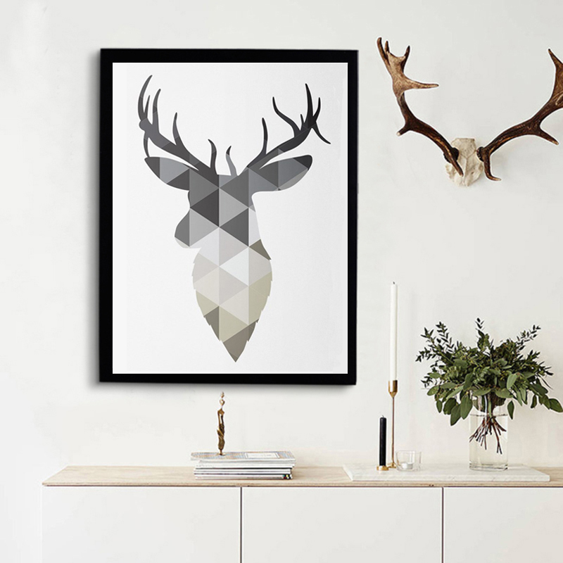 Aliexpress.com : Buy Geometric Animals Nordic Deer Poster Canvas Painting Pop Art Prints ...