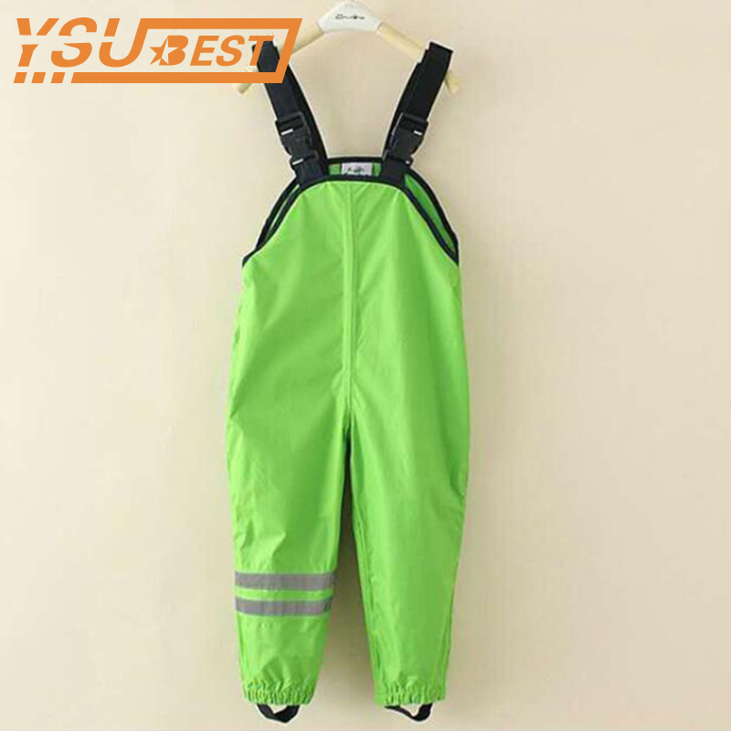 Baby Kids Overalls Trousers Outdoor Pants 1-7 Yrs Girls Boys Waterproof Overalls High Quality Kids Windproof Pants Rain Pants