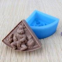 Zimna Ekspres Zodiaku bydła DIY Handmade soap Mydło formy silikonowe formy mydło czekoladowe zwierząt kształtuje aromat kamiennych form