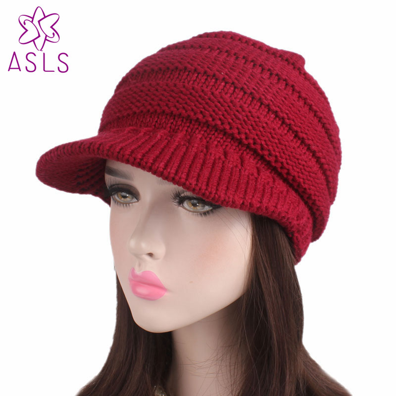 2017 Hot sale fashion Women Ladies soft cap knit slouchy beanie Hat pleated  newsboy beret knitted cap Warm winter hat-in Skullies   Beanies from  Women s ... c92f342666e