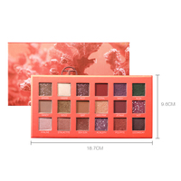 18 Colors Arrival Beauty Glazed Makeup Eyeshadow Pallete makeup Palette Shimmer Pigmented Eye Shadow maquillage