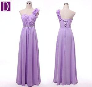 Image 3 - Sorella della sposa più il formato delle donne robe mariage lavanda donna abiti da damigella donore senza bretelle lungo luce viola lilla abito abito