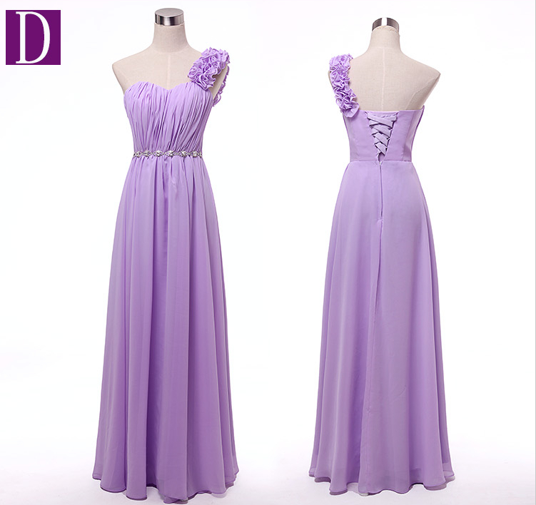 Image 3 - women robe mariage sister of the bride plus size lavender woman bridesmaid dresses long strapless light purple lilac dress gown-in Bridesmaid Dresses from Weddings & Events