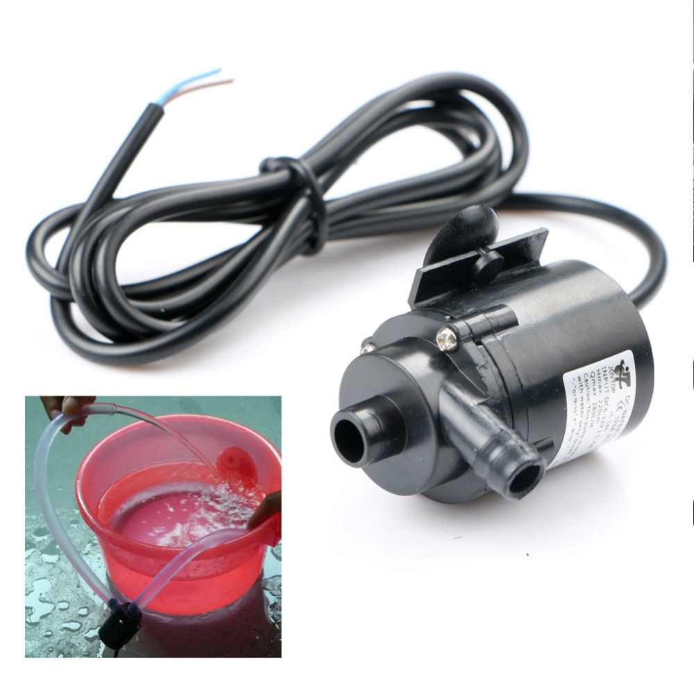 12V DC Electric Mini Water Pump Micro Brushless Submersible Pump Circulation Pump for Aquarium Fountain Medical Cooling 280L/H