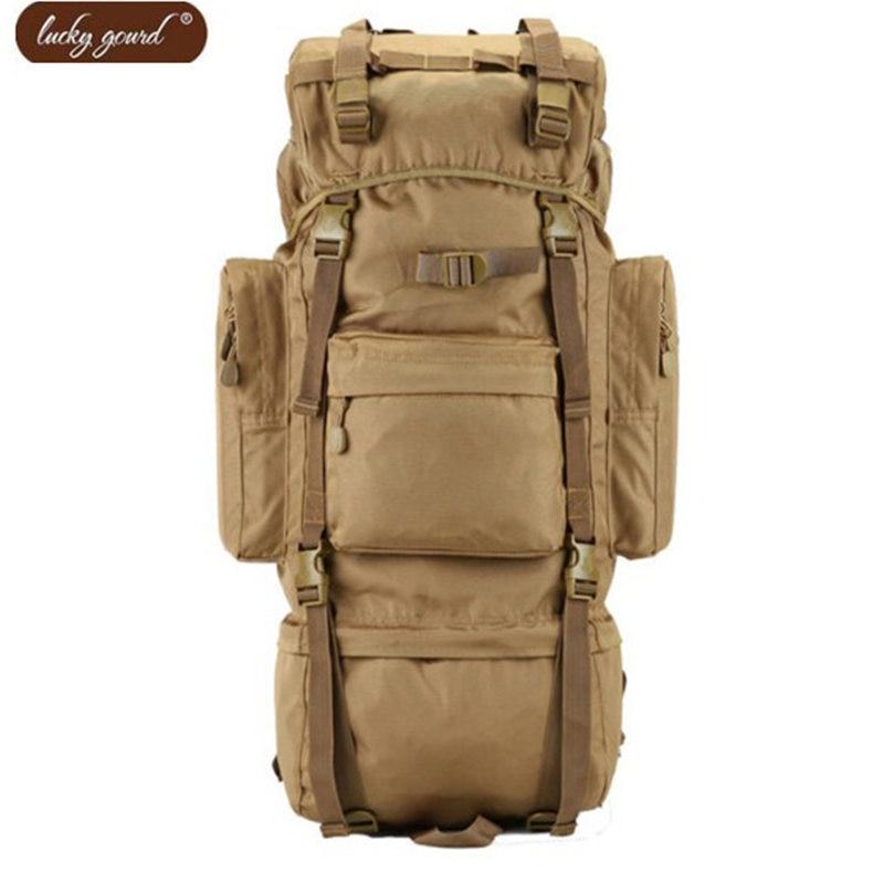 70L Metal Bracket Bag 2019 Men Backpack Multi-function Waterproof Nylon Bags Camouflage Travel Best Leisure Package Backpacks