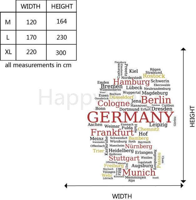 Online Shop German Map Wall Sticker Map Of Germany Wall Decal 3d