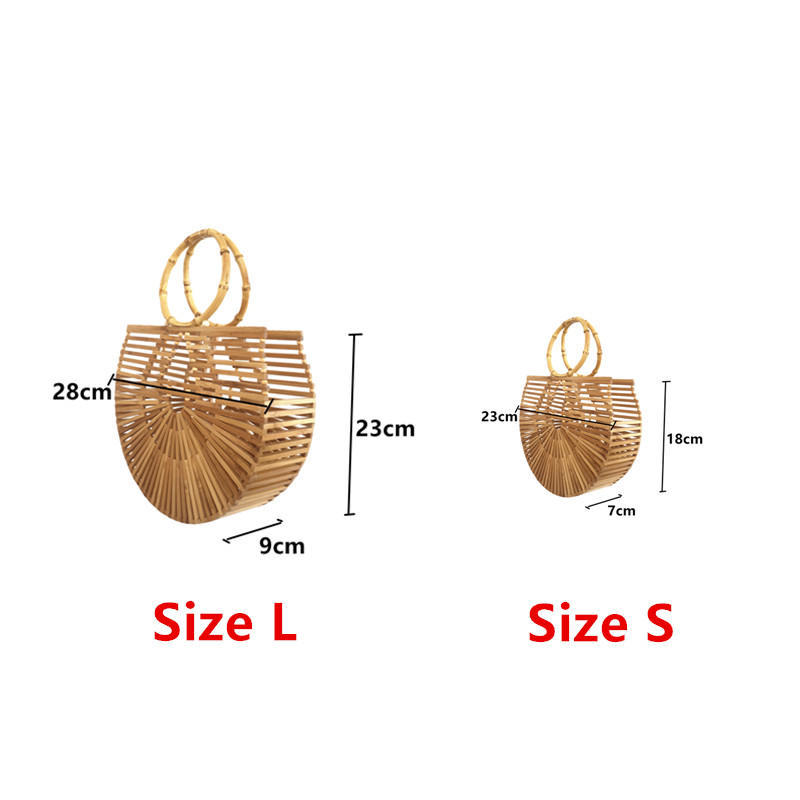 Bamboo Handbags for Women for the Beach 3