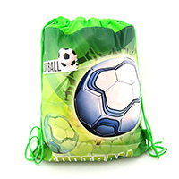 12Pcs/Lot Football Soccer Theme Non-woven Fabrics of Bag Drawstring Backpack Gift Bag Storage Bag boy favor school bag worldcup