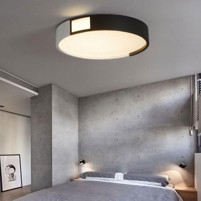 Living Room Lighting Fixtures Glass Shelves New Study Round Ceiling Lamp Led Commercial Simple Bedroom Surface Modern