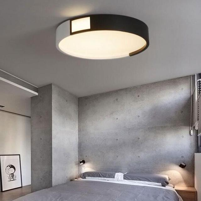 Study Room Round Ceiling Lamp Led Commercial Lighting Fixtures Simple  Bedroom Surface Lamp Modern Living Room Lamp Led Luminaire