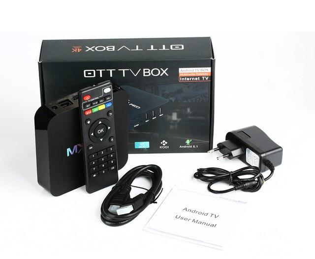 OTT CAJA de la TV 10 unids M PRO 4 K Amlogic S905 64bit Android 5.1 Caja de la TV Quad Core 2 K y 4 K 2.0 WiFi KODI 16.0 de medios pre-instalado jugador