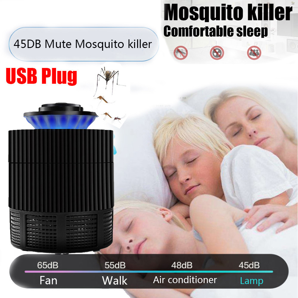 US Plug Mosquito Killer Lamp Repeller Electric Fly Bug Zapper Bedroom Mosquito Insect Killer LED Light Trap Lamp Pest Control