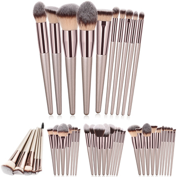 Luxury Champagne Makeup Brushes Set For Foundation Powder Blush Eyeshadow Concealer Large Make Up Brush Cosmetics Beauty Tool 25