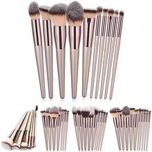 Luxury Champagne Makeup Brushes Set For Foundation Powder Blush Eyeshadow Concealer Large Make Up Brush Cosmetics Beauty Tool 25
