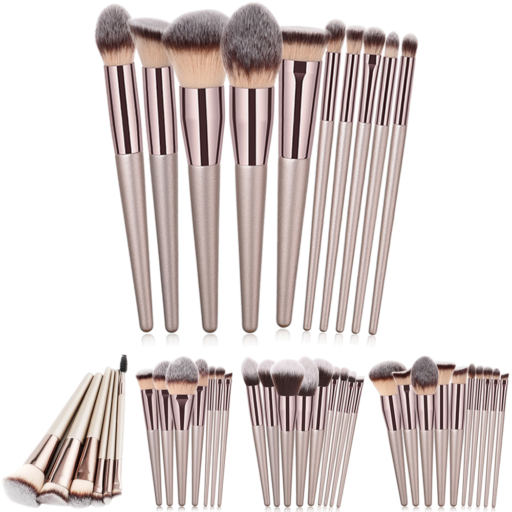 Maquillage pinceaux Kit Champanhe Maquiagem Brushes Set Para Foundation Pó Blush Sombra Make Up Brush Cosméticos Ferramenta de Beleza