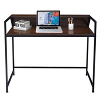 Simplistic Desk Computer Office Furniture Home Black Hollow Out Design Home Computer standing desk HW52796
