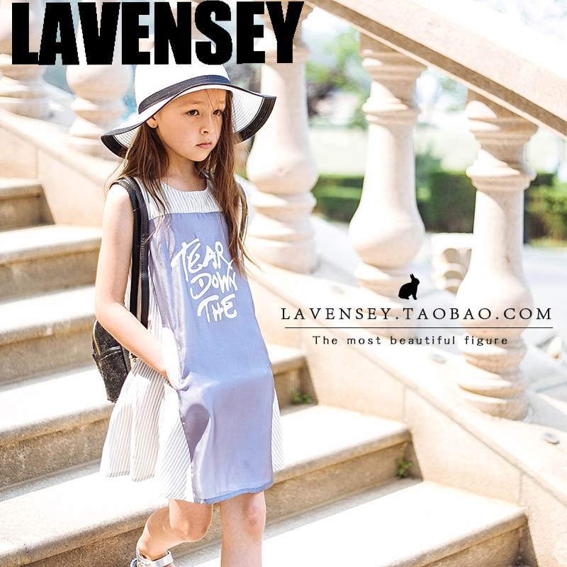 Lavensey original  children wear new baby girl vest summer cotton A print dress free shipping lavensey original new children thick cotton turn down collar fashion coats for girl baby clothing free shipping