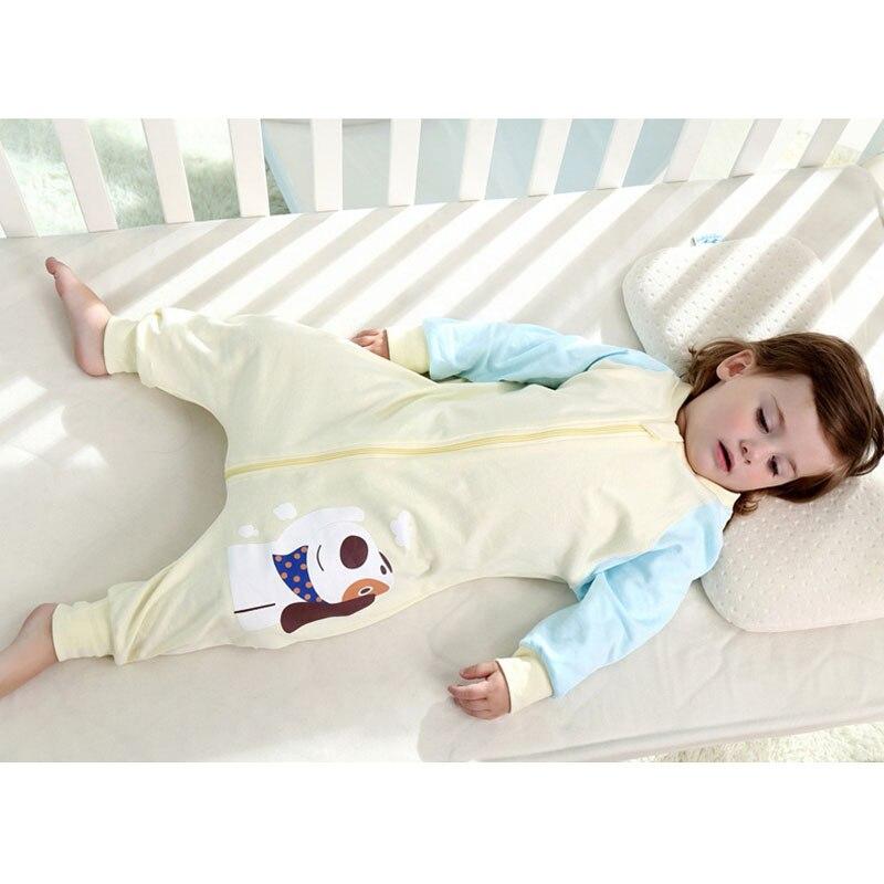 Новорожденных спальный мешок для сна Sack Демисезонный с длинным рукавом удобные