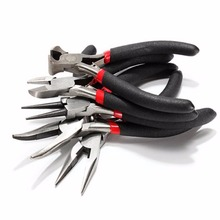 5pcs Jeweler Pliers Tool Set Round Long Bent Daigonal Side Cutter End Cutting Nose Jewelry Making Beading Wire Wrapping Hobby 5″