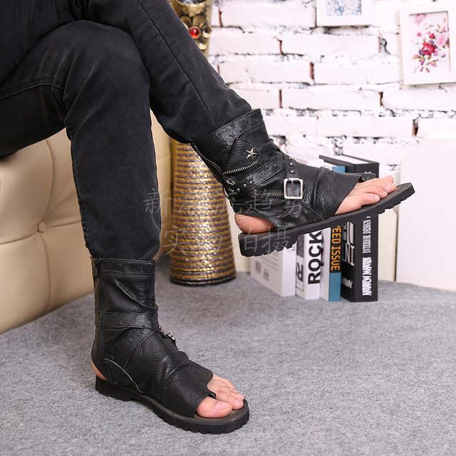 c9e778257a30e placeholder 2017 Sandalias Homb Black White Gold Mens Shoes Casual Thong  Beach Sandal Open Toe Flat Ankle