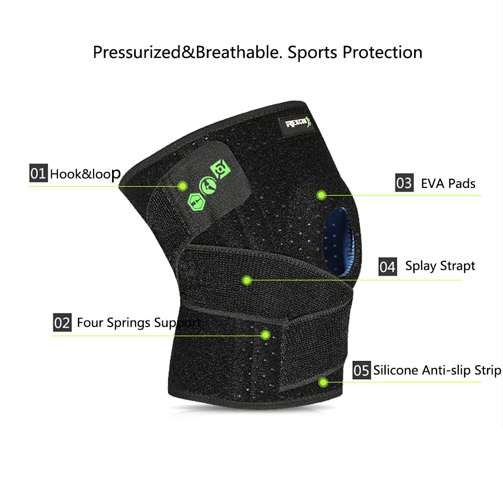 2018 New Sports activities Knee Pads Out of doors Climbing Biking Health Basketball Sporting Items Adjustable Protecting Gear Working HTB1auhrcO6guuRkSmLyq6AulFXah