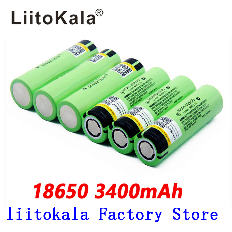NEW liitokala 18650 battery original NCR18650B 3.7V 18650 3400 mah rechargeable lithium battery for flashlight battery|liitokala 18650|battery 1865018650 rechargeable battery - AliExpress
