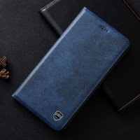 High Quality Genuine Leather Cover For Lenovo P780 P70 S60T S90 Cowboy Texture Magnetic Flip Stand