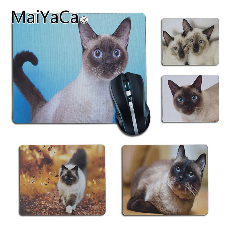 MaiYaCa Good Use Siamese cat Laptop Computer <font><b>Mousepad</b></font> rubber animal <font><b>mouse</b></font> pad computer <font><b>game</b></font> <font><b>mouse</b></font> pad <font><b>Keyboard</b></font> Mat Desk Mat image