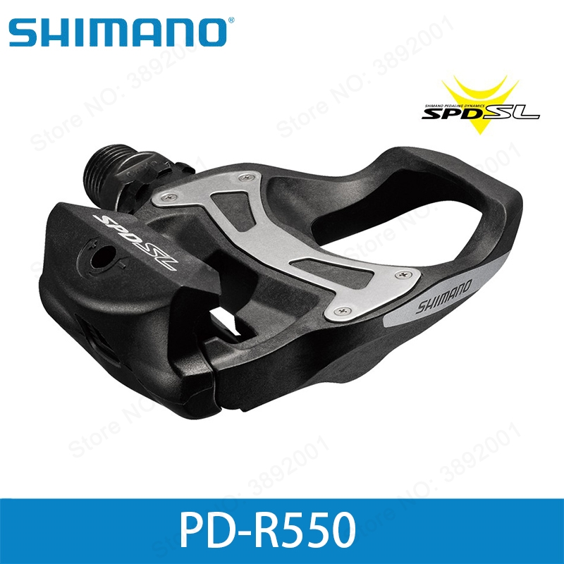 shimano NEW PD-R550 SPD-SL Carbon Resin Composite Road Pedals include cleats r550