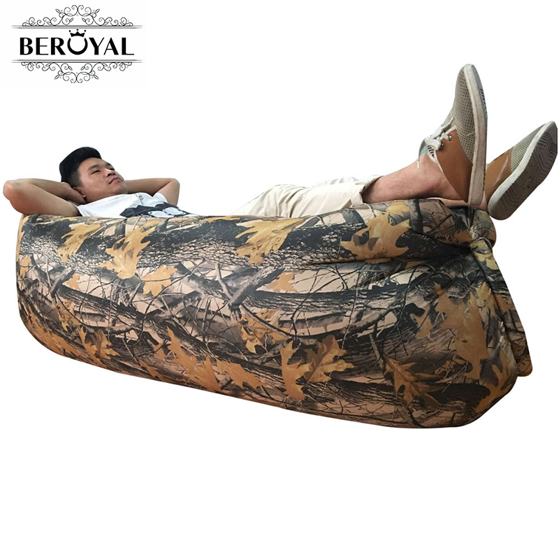 New 2017 Fast Inflatable Sofa Outdoor Air Bag Lazy Sofa Super Light Ultralight Camouflage Hiking Camping Beach Travel Lounger folding air bag sofa portable inflatable sofa lazy sofa outdoor beach easy use fashion swim bed toy camping travel supply gift