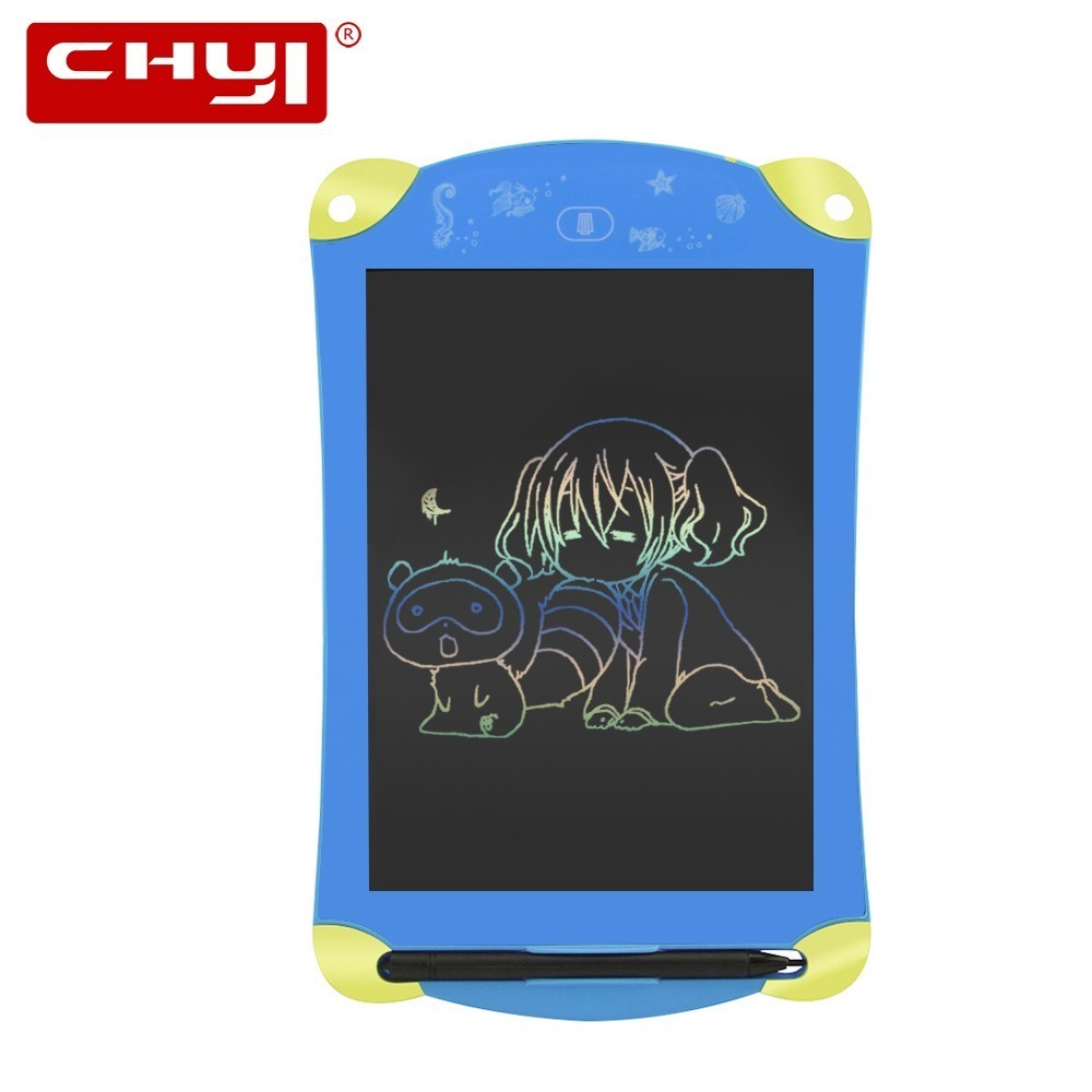 CHYI Colorful Cartoon 8.5 Inch LCD Writing Tablet Electronic Digital Drawing Tablet Handwriting Pads Portable Memo Board for Kid цена и фото