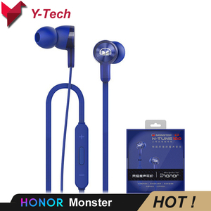 Image 1 - Huawei Honor Monster AM15 Huawei ชุดหูฟังหูฟังชนิดใส่ในหู 3.5 มม. พร้อม Remote และไมโครโฟนสายควบคุมความยาว 1.2 m สำหรับ honor
