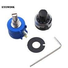 3590s-2-103l 10 k ohm precisão multiturn potenciômetro 10 anel resistor ajustável 3590 s 500 1 k 2 k 5 k 20 k 50 k 100 k ohm botão chapéu