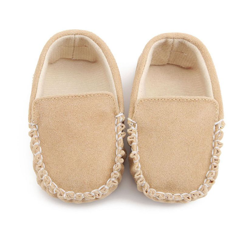 PU Suede Leather Newborn Baby Boy Girl Baby Moccasins Soft Moccs Shoes Soft Soled Non-slip Footwear Crib Shoe