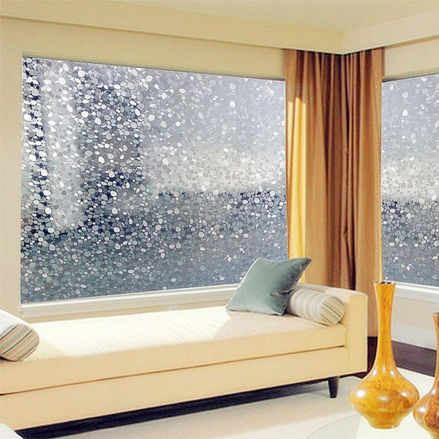 Pvc Colorful Pebbles Scrub Home Bedroom Bathroom Privacy Gl Window Film Stickers Decals 45x100cm