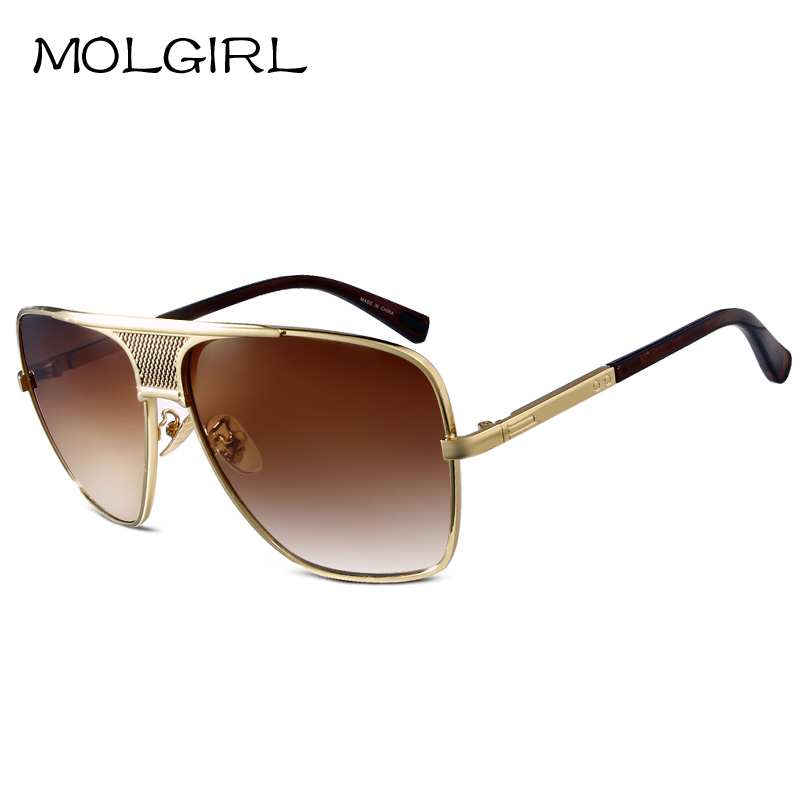 Molgirl moda quente dos óculos de sol dos homens retro clássico óculos de  sol eyewear uv400 óculos de proteção uv400 new masculino de design da marca 10fb428f44