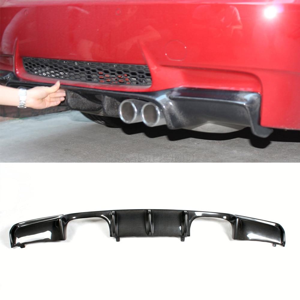 V Style E92 Rear Diffuser Carbon font b Car b font Bumper Lip Spoiler Fit For