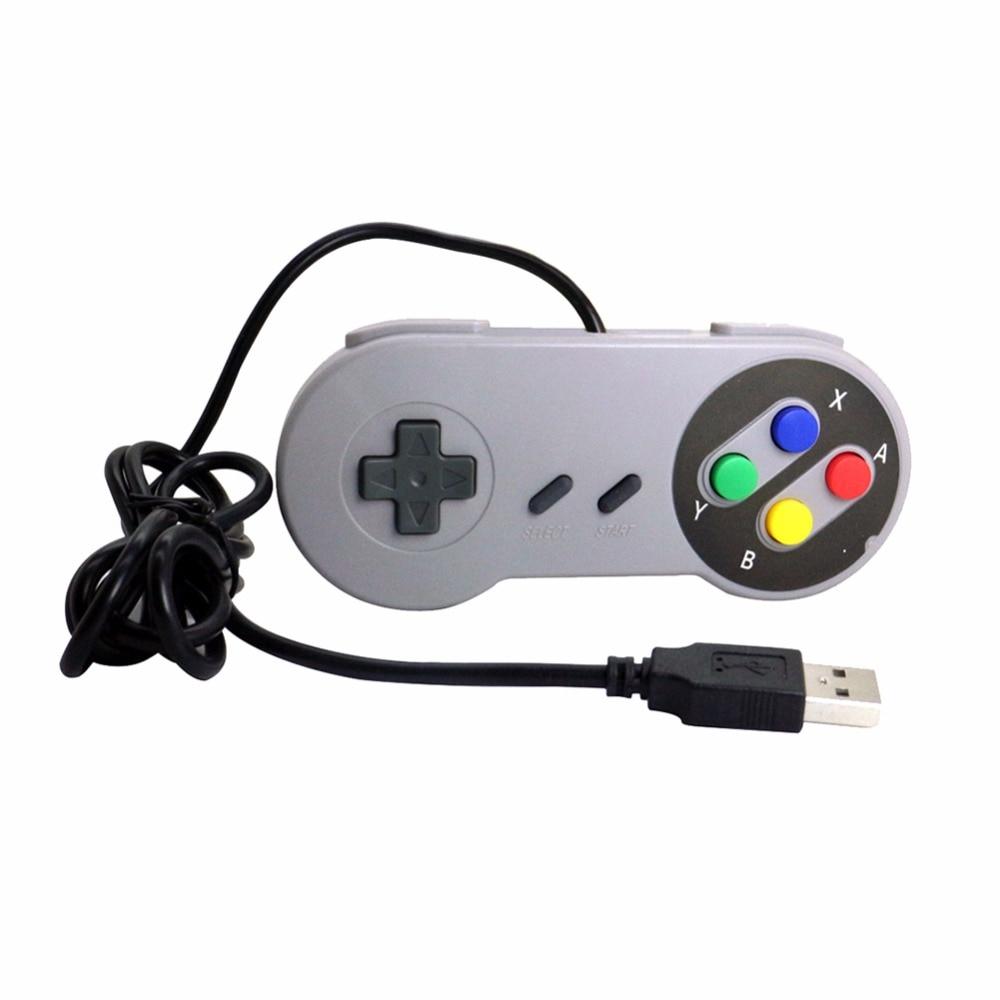 Wired USB Controller Gaming Joypad Joystick For Nintendo SNES For PC Window 98/2000/ME/XP MAC OS.XV10.2.8 Retro Handle Gamepad