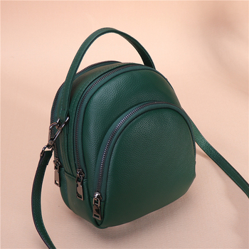 One-shoulder small bag leather female bag 2018 new fashion tide package simple wild female mini bag multi-layer bag