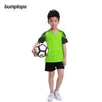 Kids Boys DIY Best Quality Hot Selling Training Team Sportswear Youth Soccer Jerseys Football Kits Customized