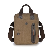 multifunctional man boy school style canvas messenger pad removable crossbody Shoulder book women travel toteTactical handBags